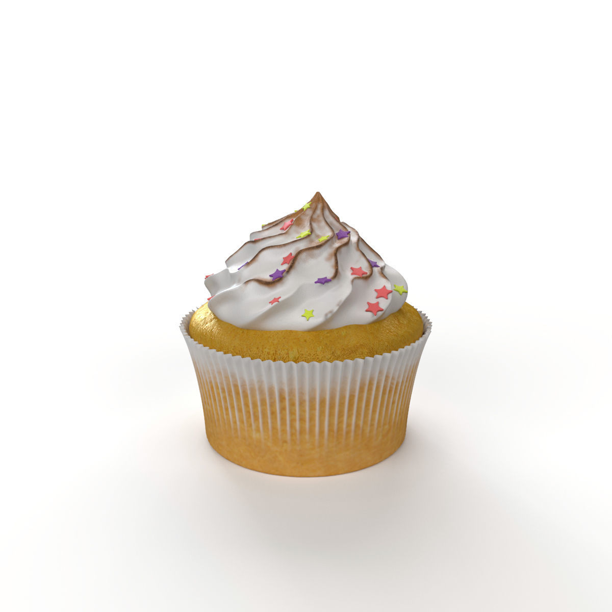 Cupcake with marshmallows
