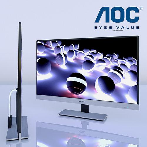 monitor aoc d2757ph 3d model max fbx 1