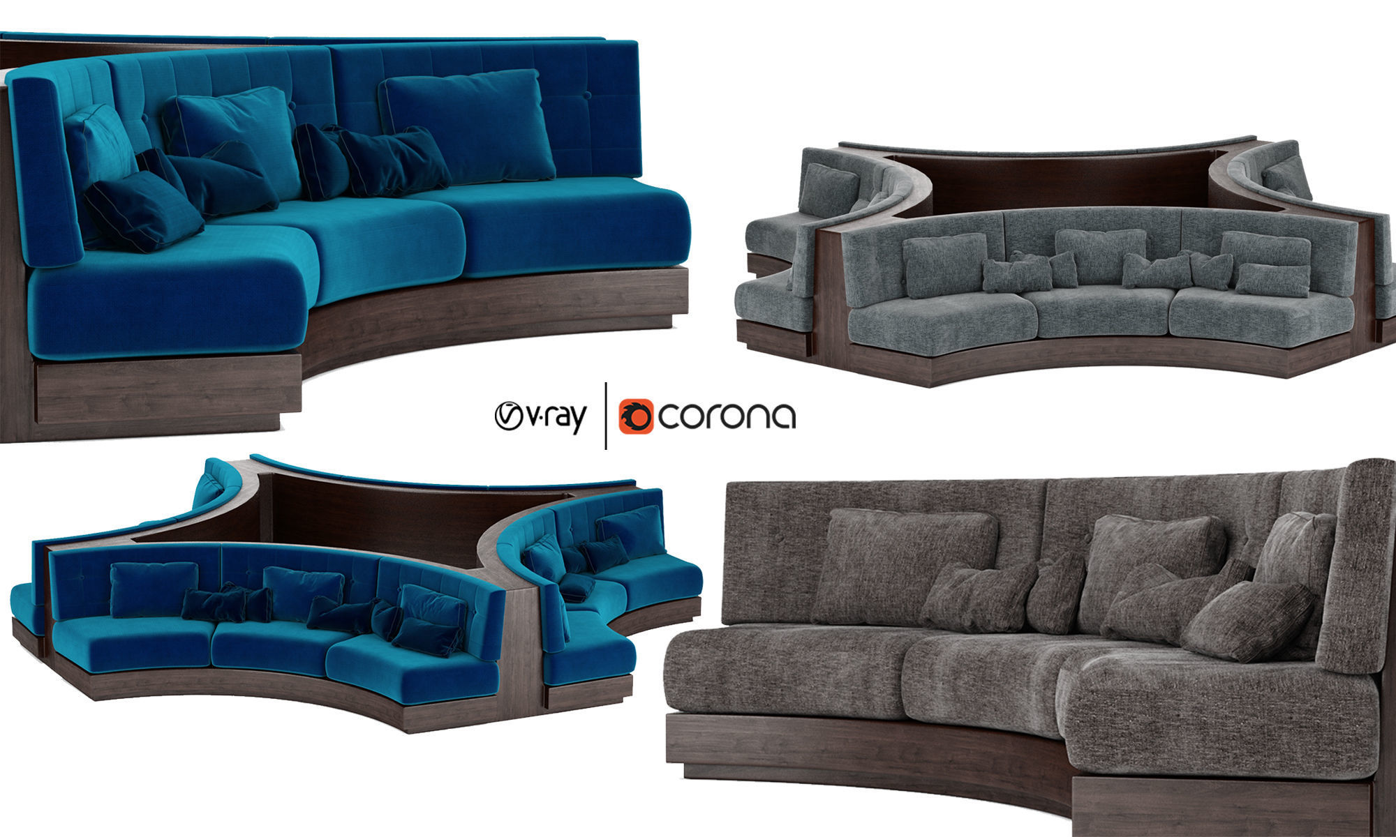 Booth Seating Round Sofa For Luxury