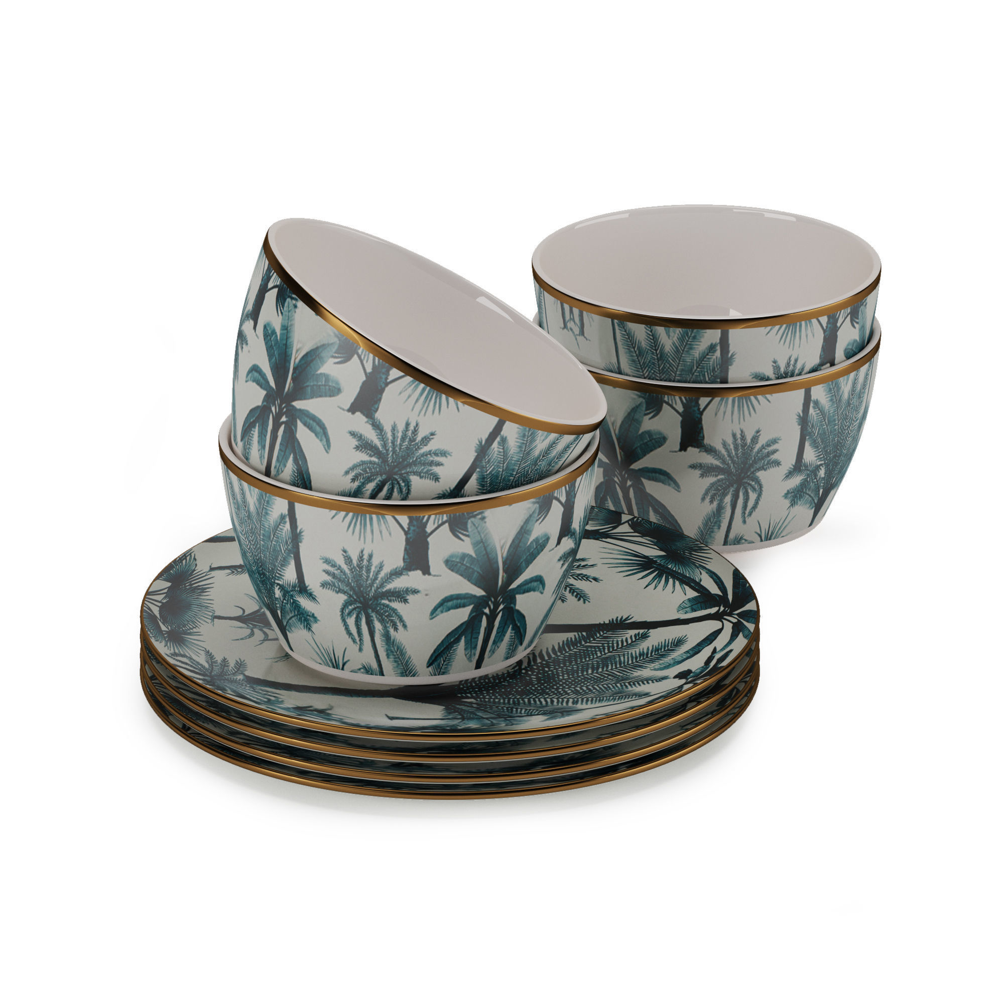 H and M Patterned Porcelain Collection Tableware