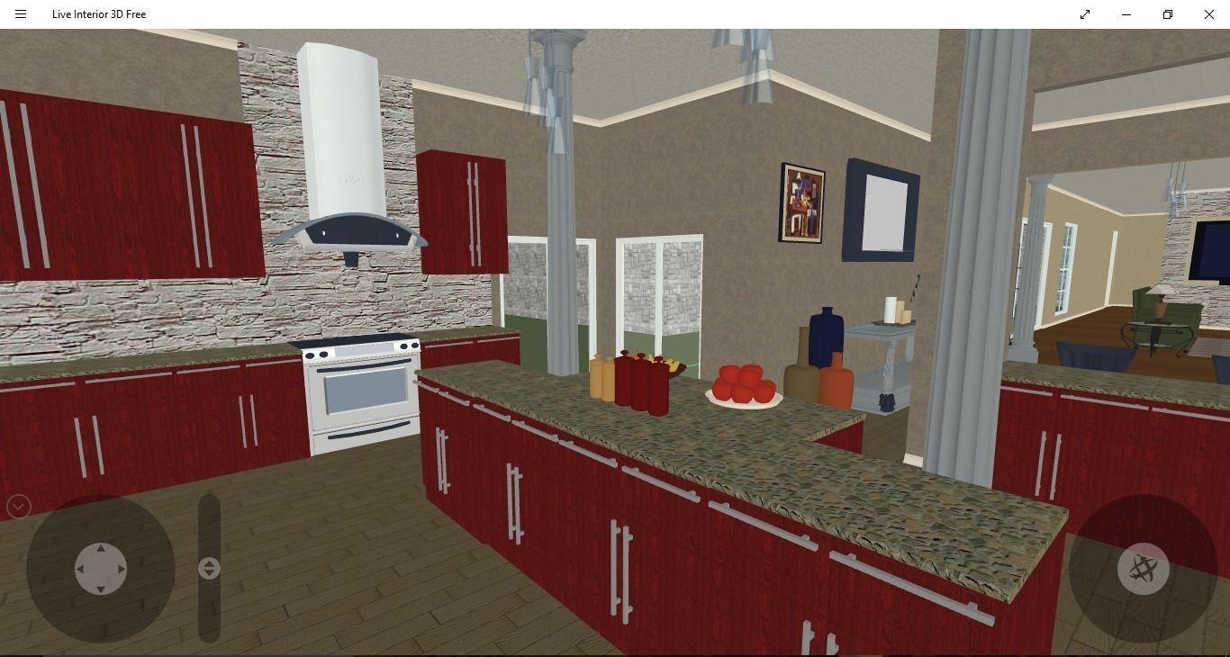 ... Kitchen Design 3d Model 6