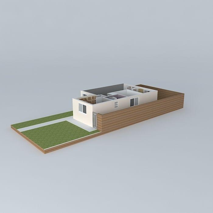 Kitchen Set Sketchup: Wooden Kitchen Free 3D Model MAX OBJ 3DS FBX STL SKP