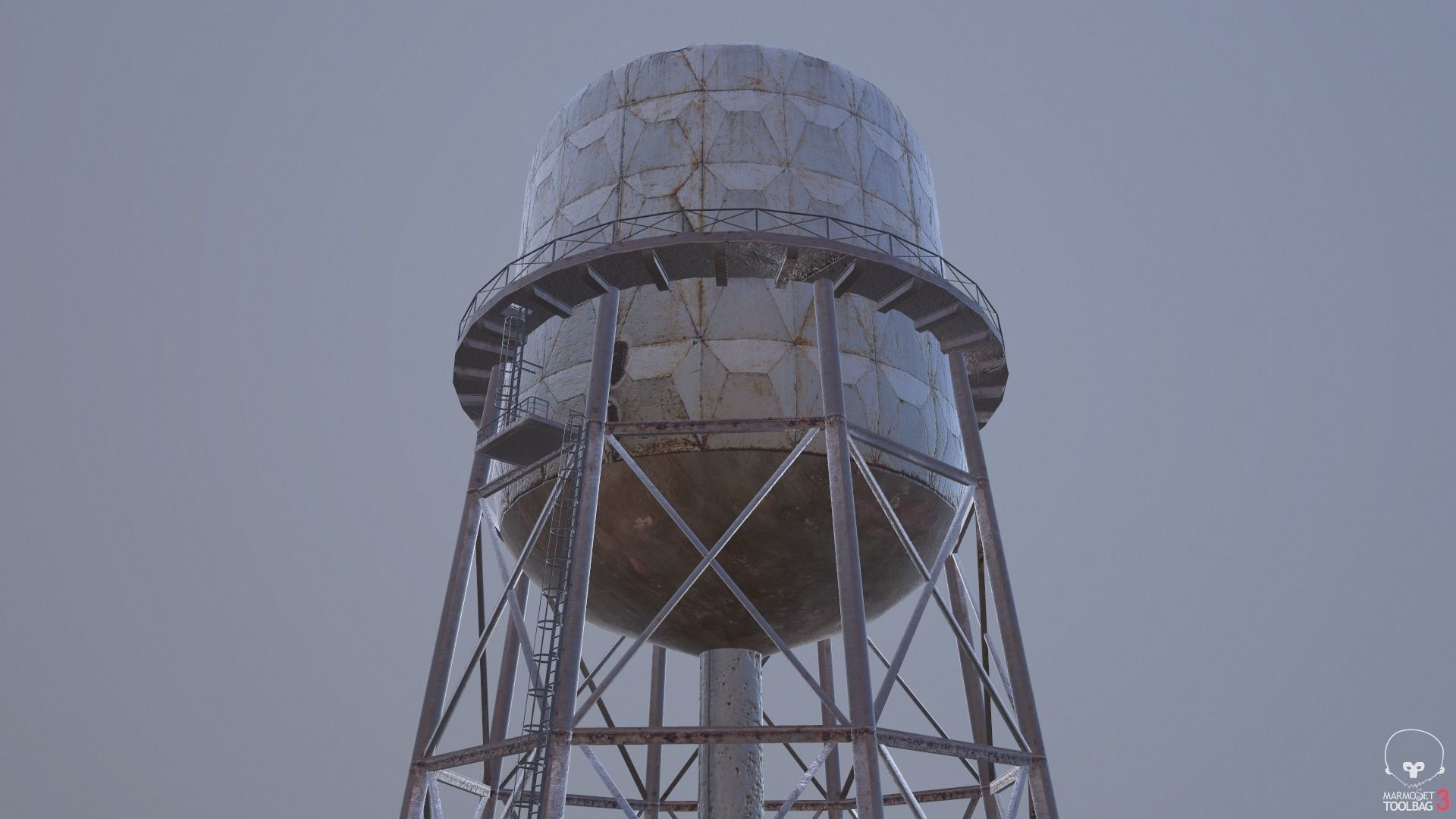 Rusted Old Water Tower Farm