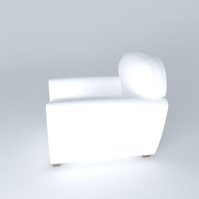 Sillon Couch 3d Model Max Obj 3ds Fbx Stl Skp