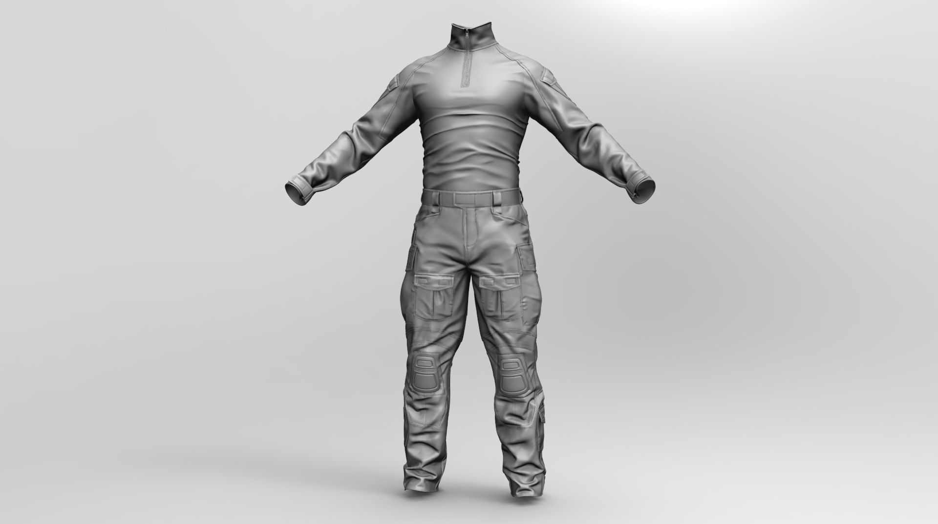 Qualitative 3d model of US Soldier Uniform