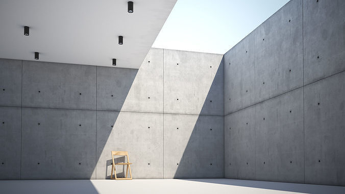 Form casted concrete wall texture large surface