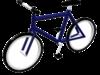 Blue bike 3D Model