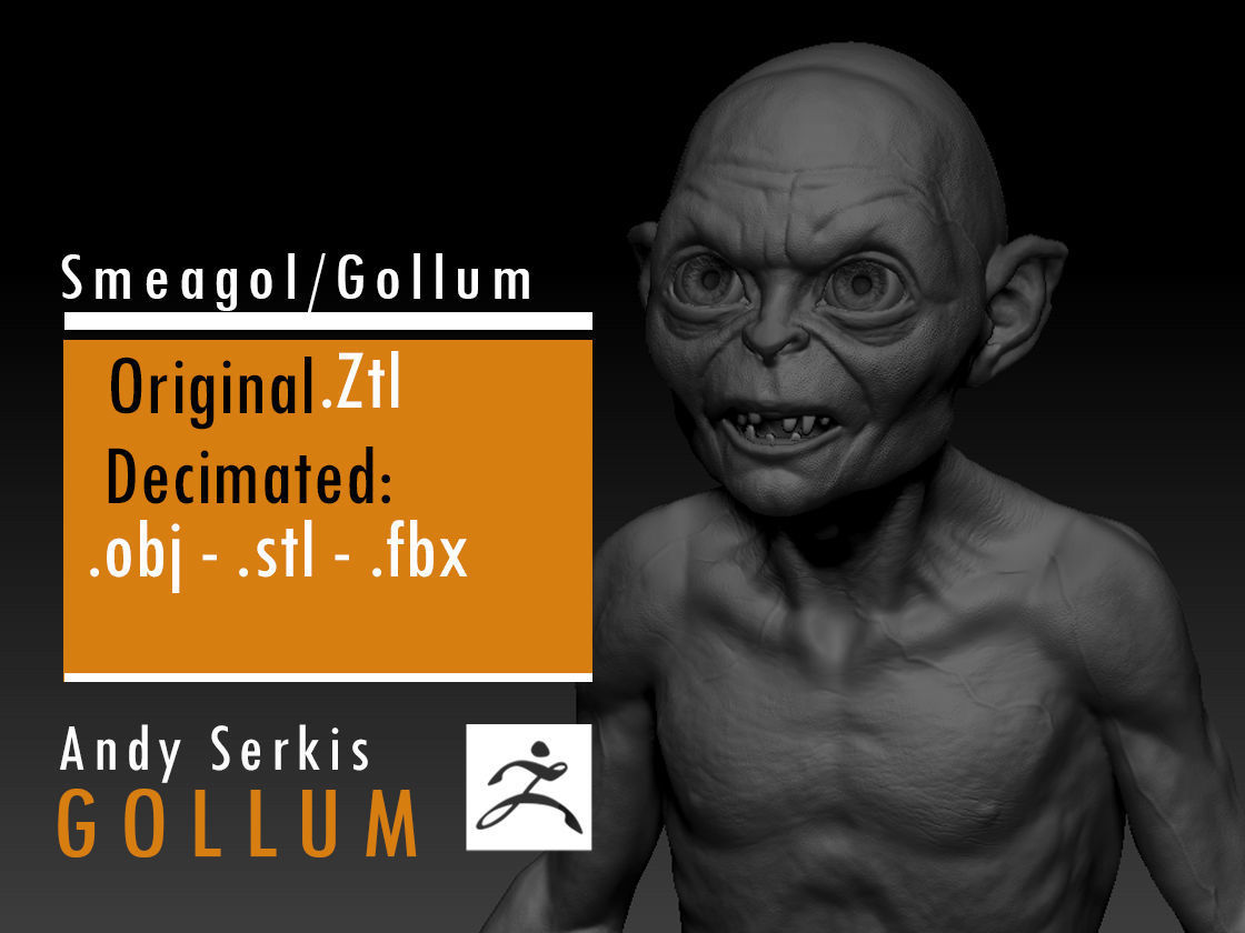 Gollum - Andy Serkis - Lord Of The Rings