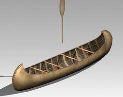 Canoe 3D asset