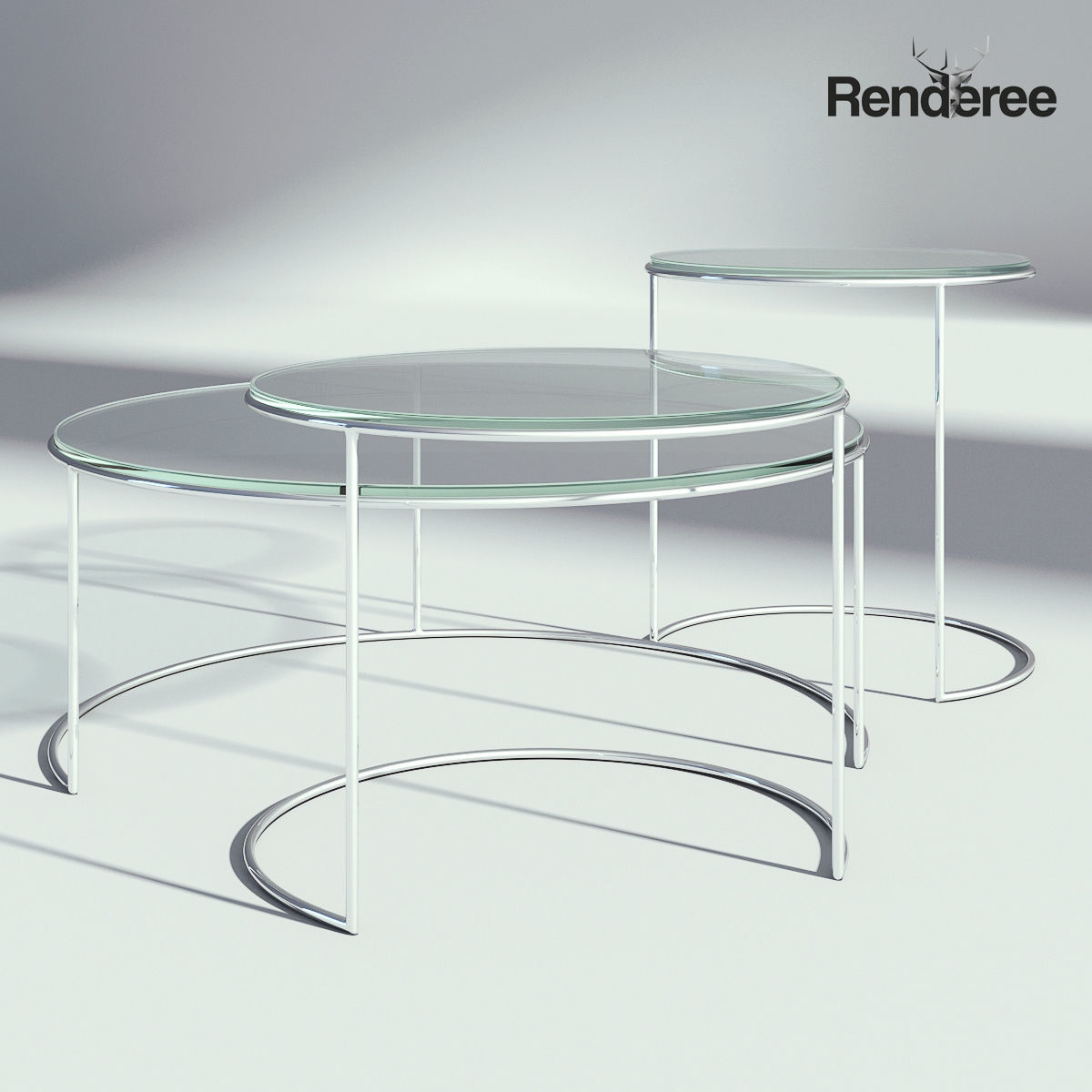 - Round Coffee Table Set 3D CGTrader