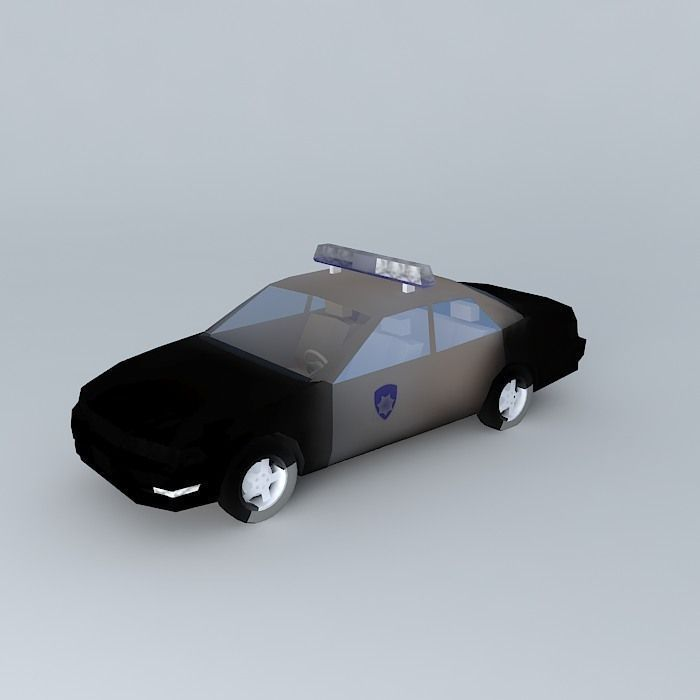 3d City Police Car Cgtrader