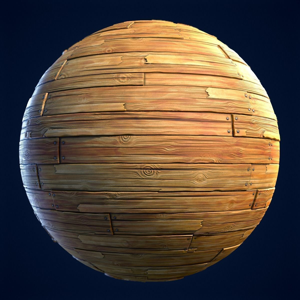 Wood Boards Stylized Hand Painted Textures