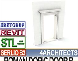 Ancient Roman Door B Revit STL Printable 3D Model