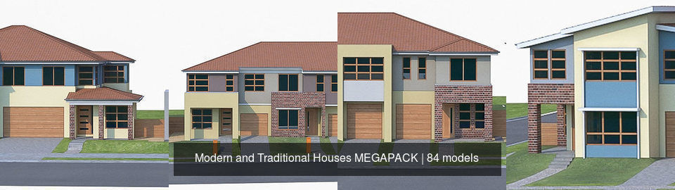 Modern and Traditional Houses MEGAPACK
