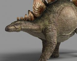 3d model animated stegosaurus astil