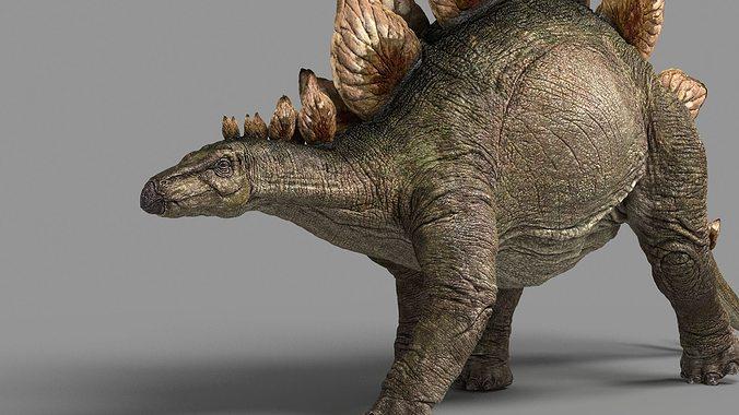 stegosaurus astil 3d model rigged animated max fbx 1