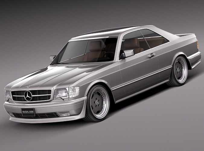 Mercedes benz w126 560 sec amg 1991 3d model max obj for Mercedes benz amg models