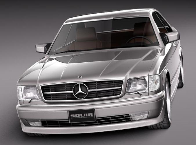 Mercedes benz w126 560 sec amg 1991 3d model max obj for Mercedes benz 560 sec
