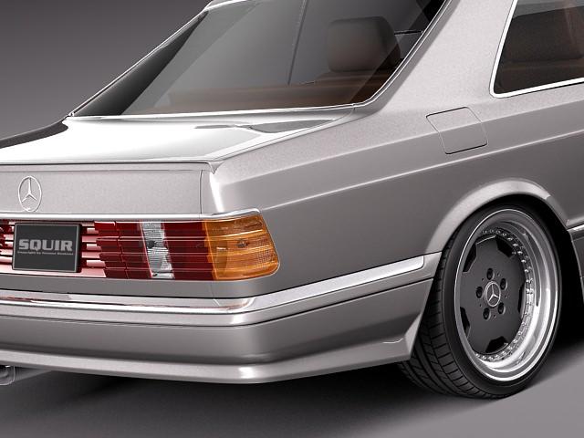 mercedes benz w126 560 sec amg 1991 3d model max obj 3ds fbx c4d lwo lw lws. Black Bedroom Furniture Sets. Home Design Ideas