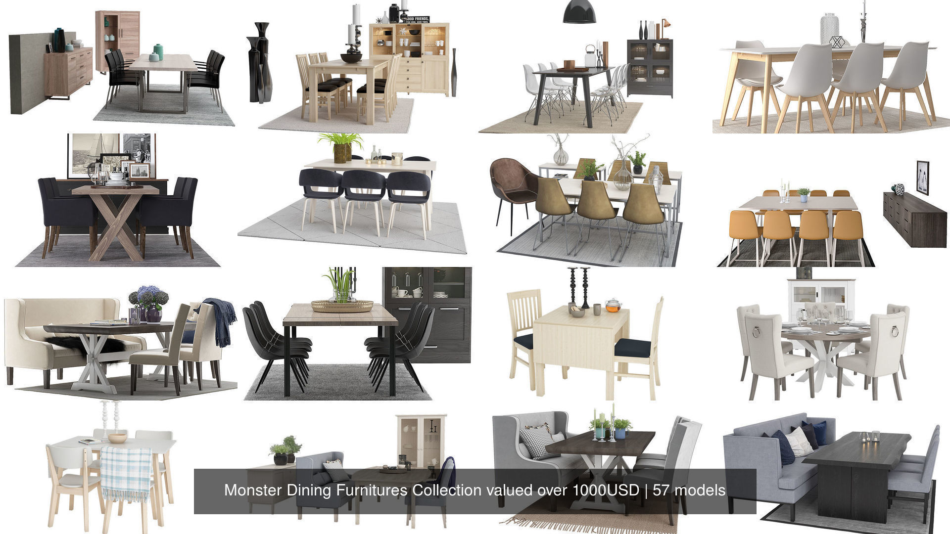 Monster Dining Furnitures Collection valued over 1000USD
