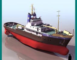 SMIT ROTTERDAM SHIP OCE 3D Model
