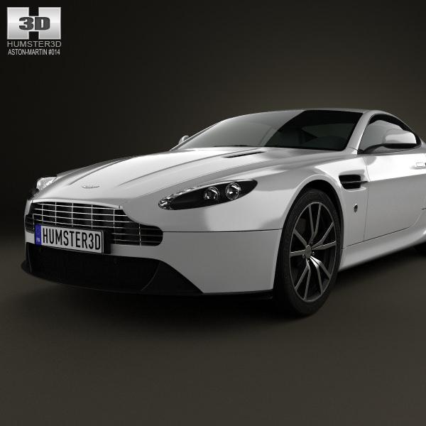 Aston Martin V8 Vantage 2012 3D Model .max .obj .3ds .fbx