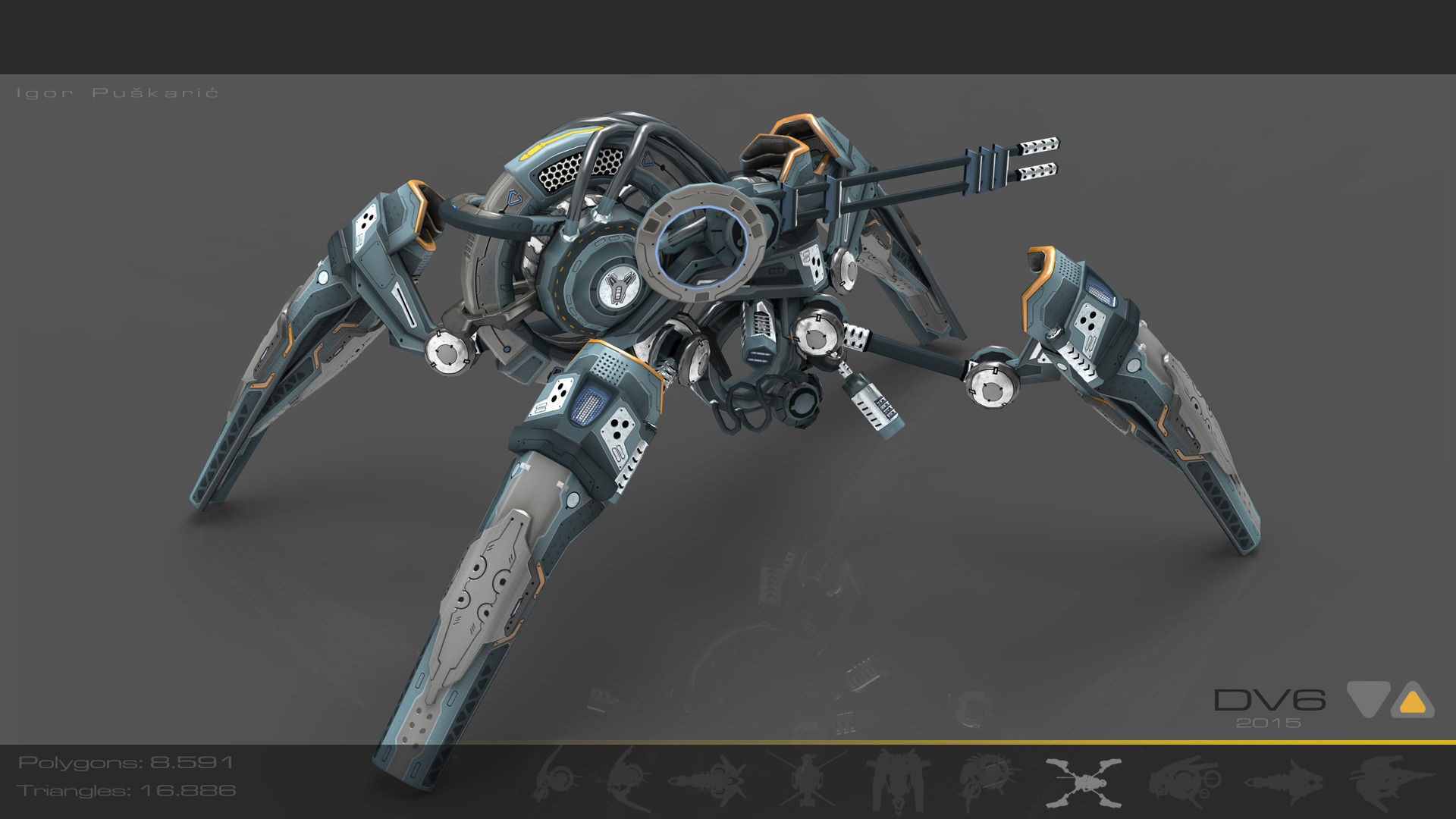 Spider Drone V6 Cybertech - ANIMATED