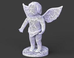 3d printable model voronoi angel