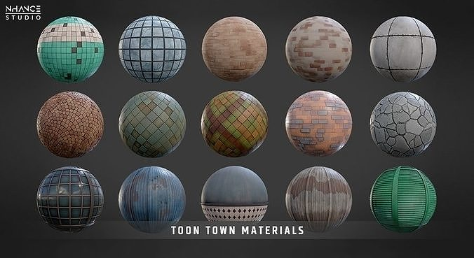 Toon Town Materials Pack