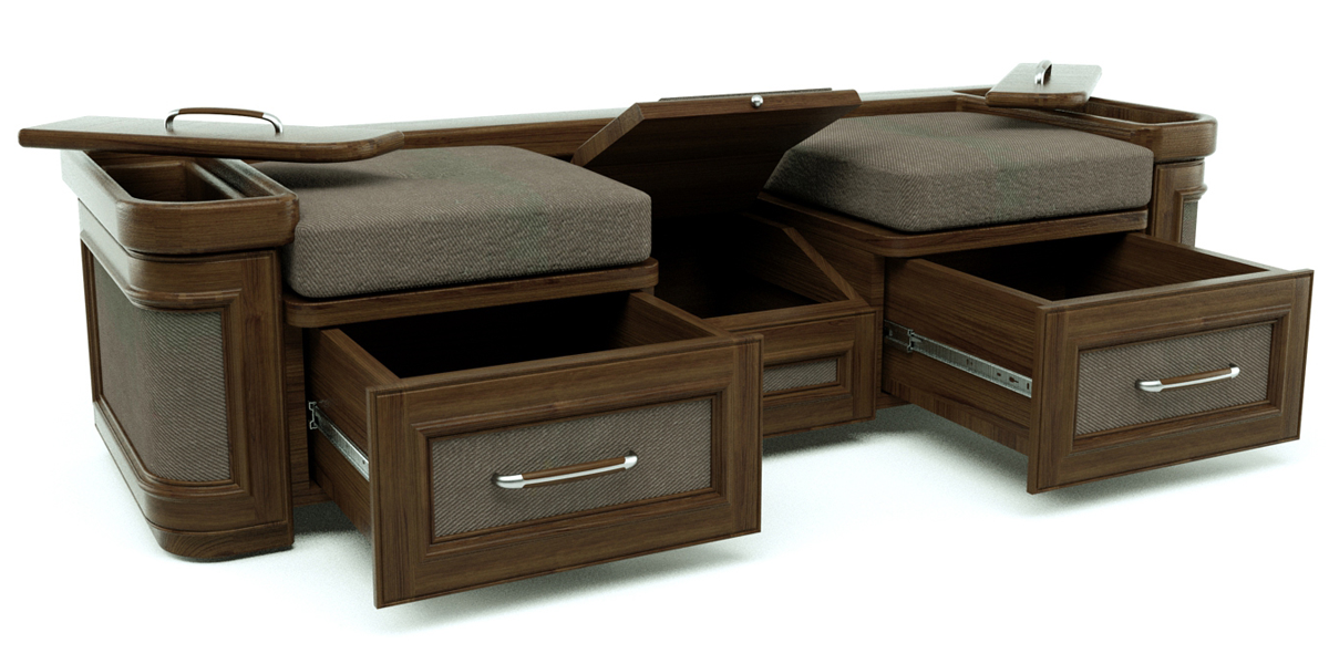 Shoe Storage Bench 3d Model Skp