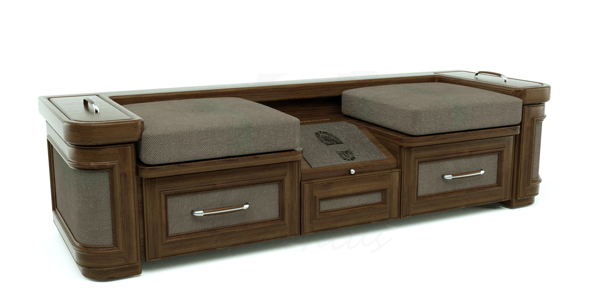 Shoe Storage Bench 3D Model skp CGTradercom