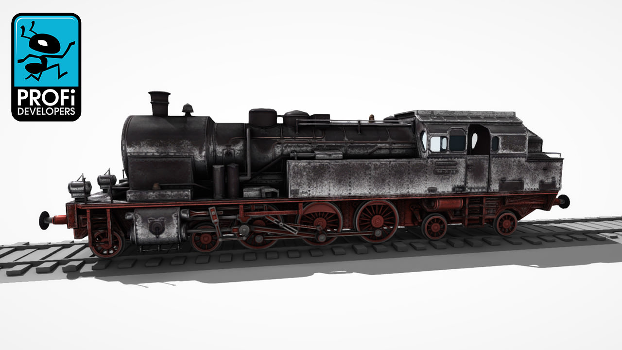 Steam Locomotive Lk 06 3d Model Game Ready Animated Max