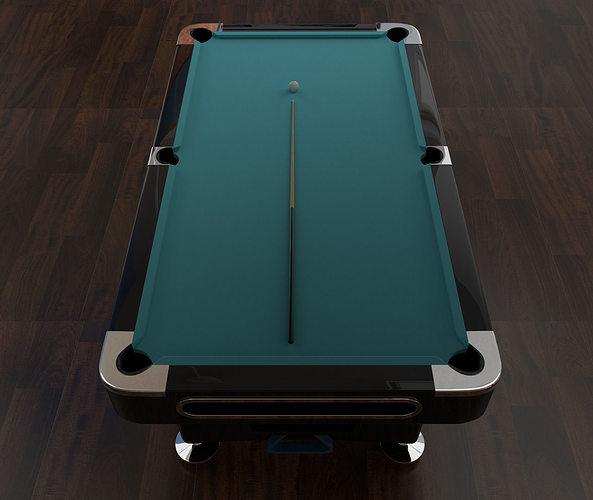 3D Model Billiard Pool Table