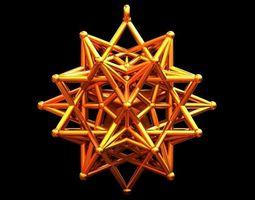 STAR IN STAR ROD PENDANT 3D printable model