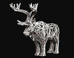 voronoi deer 3d printable model