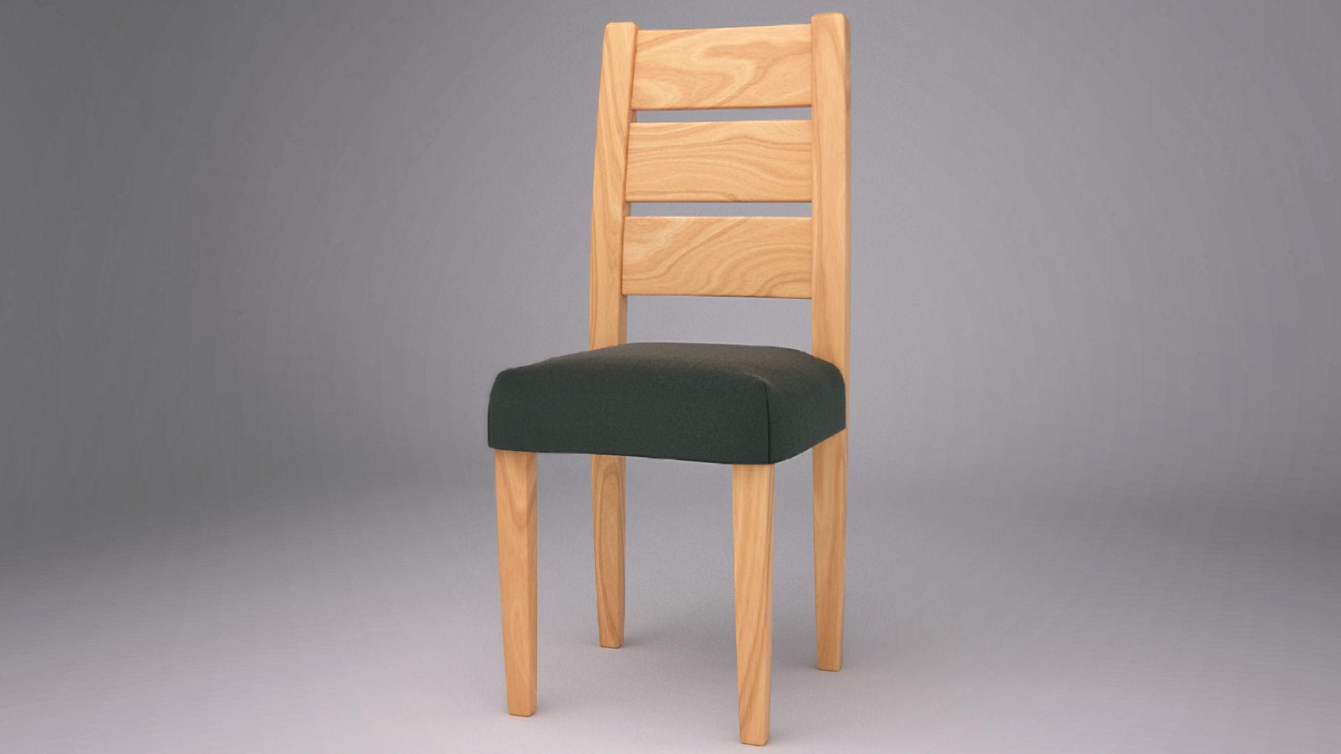Wooden Chair 3d Model Fbx Blend
