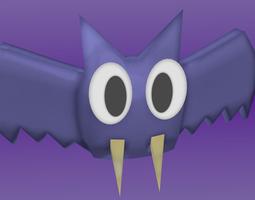 cartoon bat  3d model blend