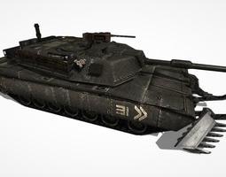3d model low-poly tank abrams