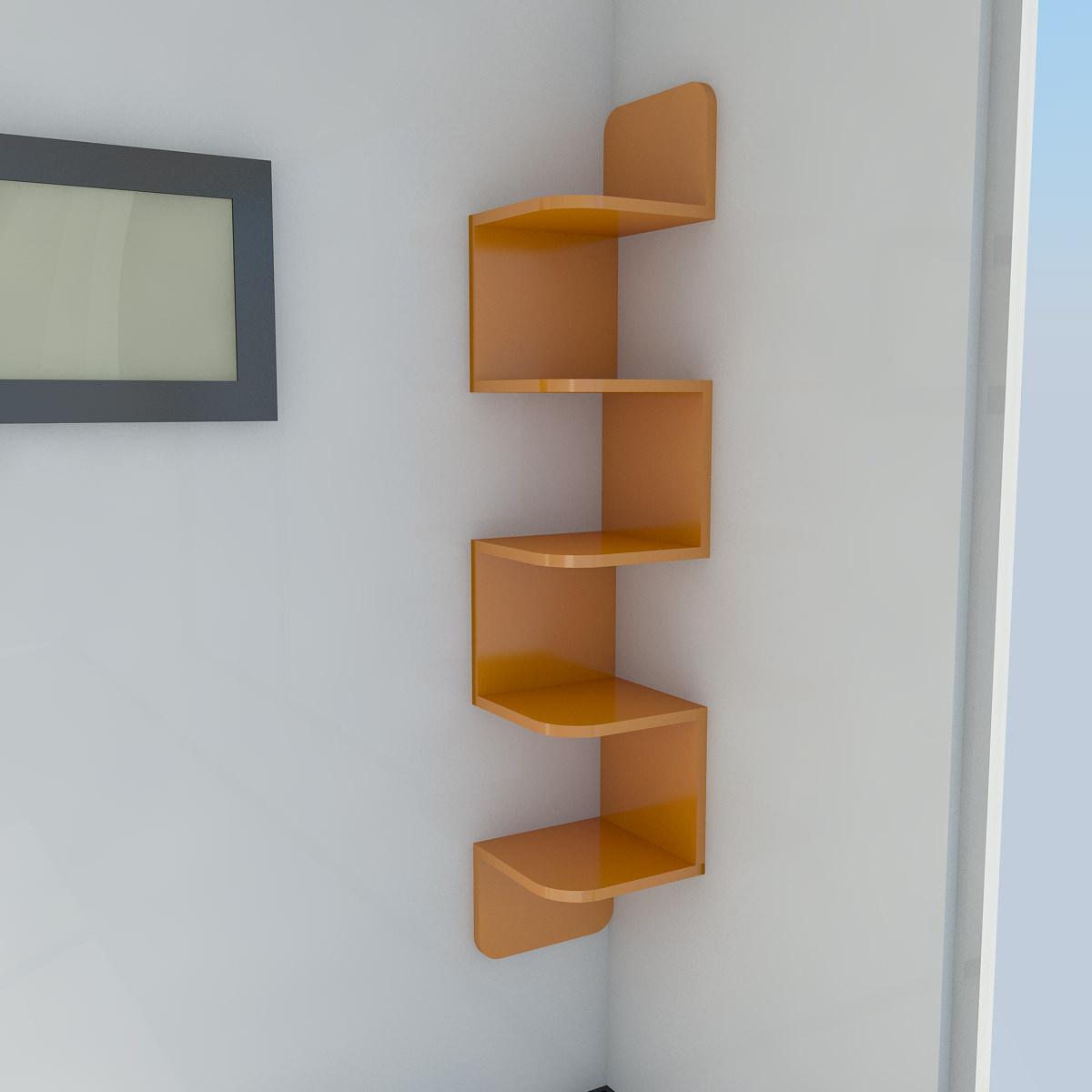 Corner Shelf 3d Model Max Obj 3ds Fbx Cgtrader Com