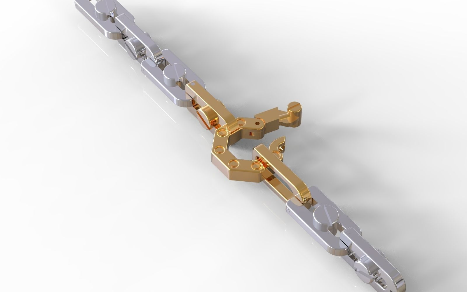 links and lock  with bolts