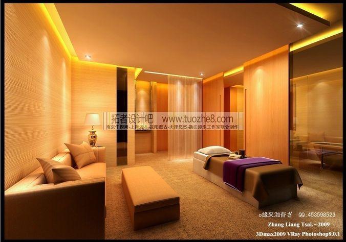Stylish interior design living room restau 3d model max for Unity 3d room design