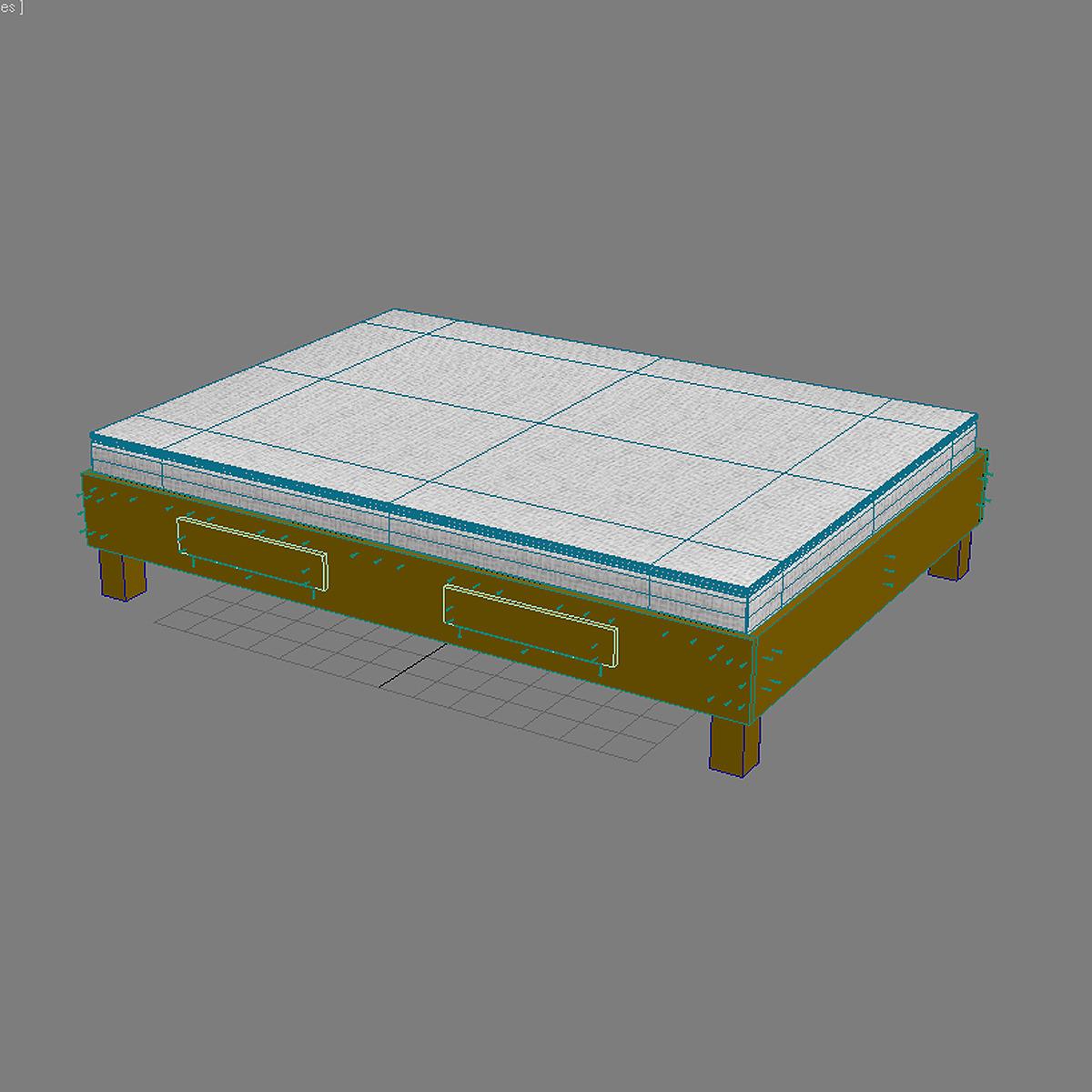 Bed max 3d model max obj 3ds fbx for 3ds max bed model