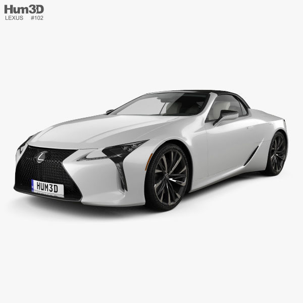 Lexus Sports Car Convertible: Lexus LC Convertible 2019 3D