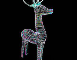 christmas reindeer 3d