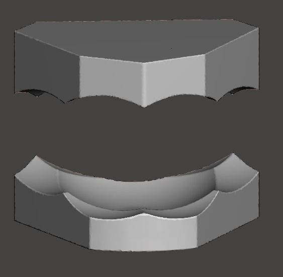 upper and lower ortho model bases