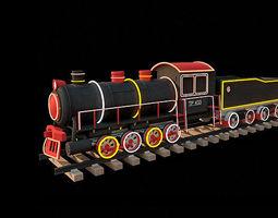 christmas decoration  train 3d
