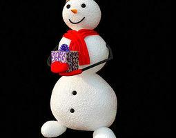 3D Decorative snowman