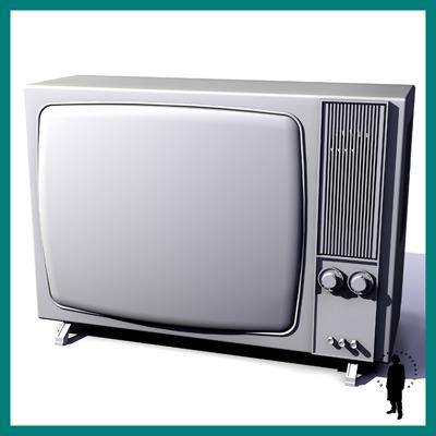 1970 television set 3d model