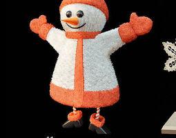Material snowman 3D