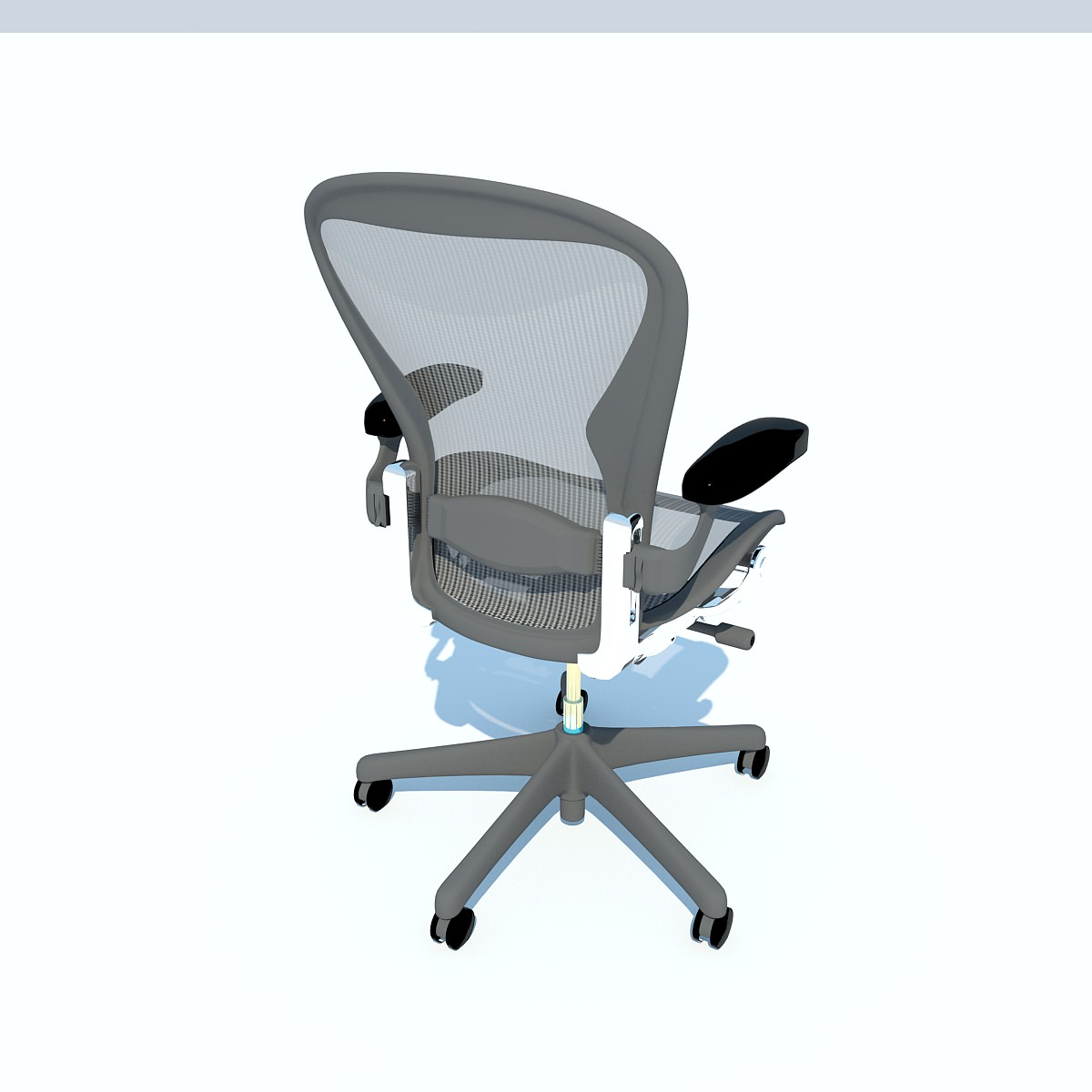 Aeron Work Chair Herman Miller 3D Model MAX OBJ 3DS FBX C4D MA MB